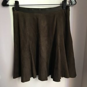 Cynthia Rowley Green Suede Mini Skirt Sz. 4